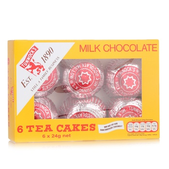 Tunnock's Milk Chocolate Tea Cakes 6x24g