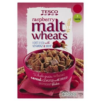 Tesco Malt Wheats Raspberry 500g