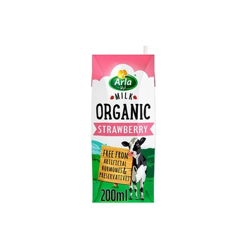 Arla Organic Strawberry Milk 200 ml