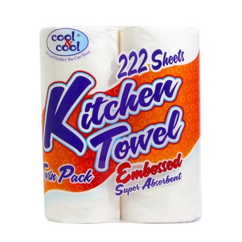 Cool & Cool Kitchen Towel Embossed 250 X 205 mm 2 pcs