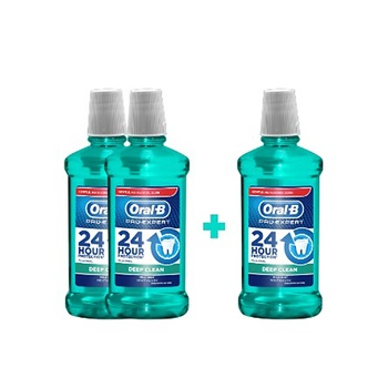 Oral B Pro-Expert Deep Clean Mouthwash 3X500ml