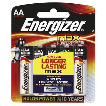Energizer Max 1.5 v AALR6 (Pack 5)