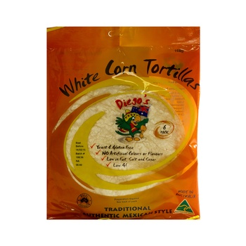 Diegos White Corn Tortillas 168g