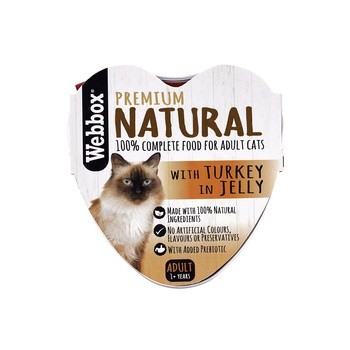 Webbox Natural Cat Food Heart Turkey In Jelly 85g