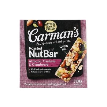 Carmans Almond Cahew & Corn Roasted Nuts Bar 175g