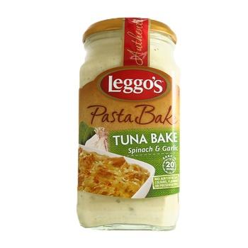 Leggos Tuna Bake Spinach & Garlic Pasta Sauce 574g