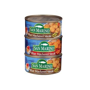 San Marino Blue Mackerel Assorted 3 x 180g
