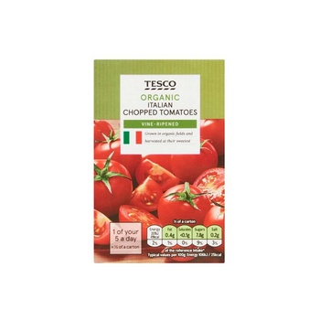 Tesco Organic Chopped Tomatoes 390g