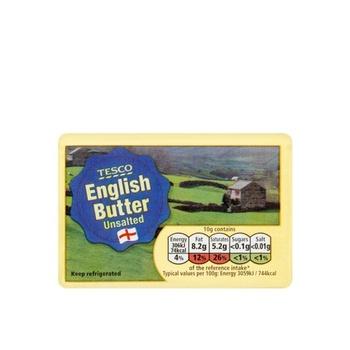 Tesco British Unsalted Block Butter 250g