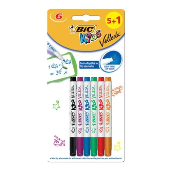 BIC Mini White Board Markers 6 Pc Pack