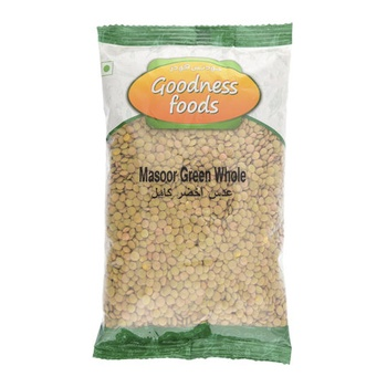 Goodness Foods Masoor Green Whole 500g