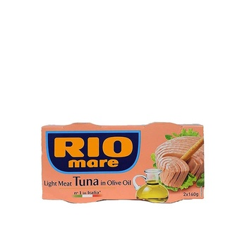 Rio mare light meat tuna in olive oil 160 gm pack of 2