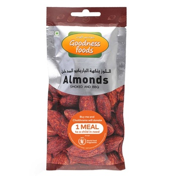 Goodness Foods Almonds Smoked & Bbq Packet 40g