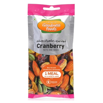 Goodness Foods Cranberry + Nuts Seed Packet 40g