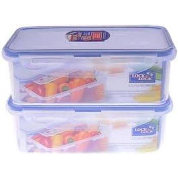 Lock & Lock 1 ltr Rectangular Food Container -2 Pc Set