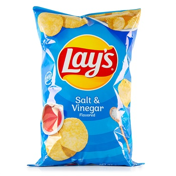 Lays Salt & Vinegar Potato Chips #400 6.5oz