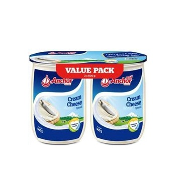 Anchor Spread Cream Cheese Jar 500g Pack of 2