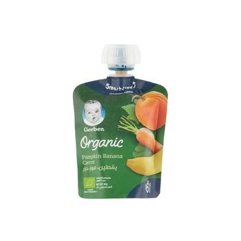 GERBER Organic Puree Pumpkin Banana & Carrot 90g