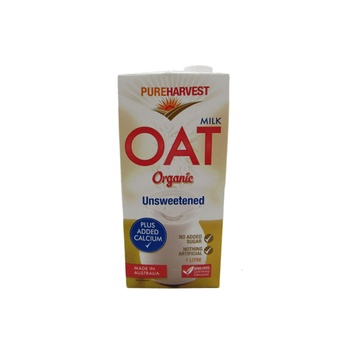 Pureharvest Organic Unsweetened Oat Milk 1 ltr