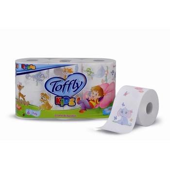 Toffly Kids Toilet Paper 3 Plies 6 Rolls
