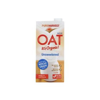 Pure Harvest Organic Oat Milk Unsweetened Original 1ltr