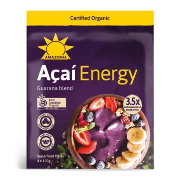 Amazonia Acai Energy Gaurana Blend Superfood 100g