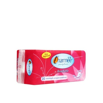 Charmee Pantyliners Breathable Unscented 20s