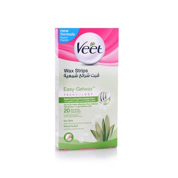 Veet Hair Removal Cold Wax Strips Dry Skin 20s