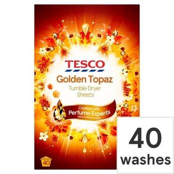 Tesco Ambience Golden Topaz Tumble Dryer Sheet 40's
