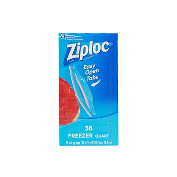 Ziploc Freezer Bags Quart 38 Bags
