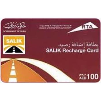 Rta Salik Recharge Card 100 Dhs