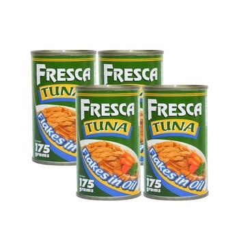 Fresca Tuna Flakes Vegtable Oil & Hot & Spicy Cans 4 x 175g