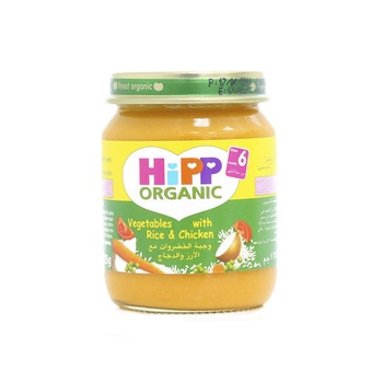 Hipp Organic Baby Food Rice & Chicken 125g