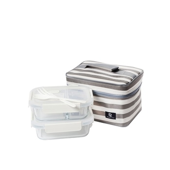 Double Lock Lunch Bag With Containers