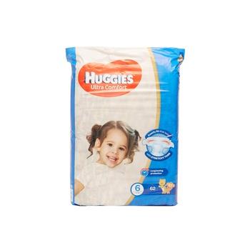 HUGGIES Ultra Comfort Diapers Size 6 Jumbo Pack 15+ kg Pack of 62 Diapers