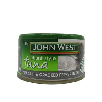 John West Chunk Style Tuna Sea Salt & Cracked Pepper In Oil 95g