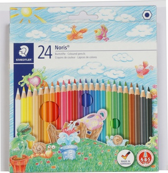 Staedler Noris Col Pencil 24 pack + Sketch Book