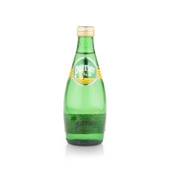 Perrier Natural Sparkling Mineral Water Lemon Glass Bottle 330 ml