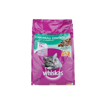 Whiskas Hairball Control with Chicken & Tuna Dry Cat Food Adult 1+ Years 1.1kg