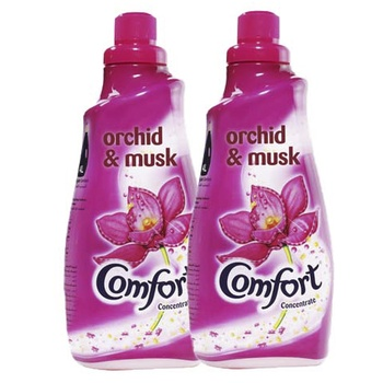 Comfort concentrated fabric softener orchid & musk 1.5 liters pack of 2