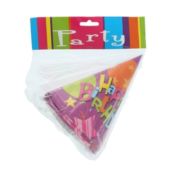 Birthday Party Hat- 6pcs pack