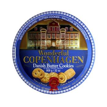 Wonderful Copenhagen Danish Butter Cookies 908g