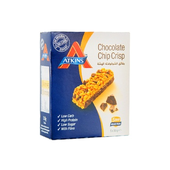 Atkins Choco Chip Crisp Bar 5x30g