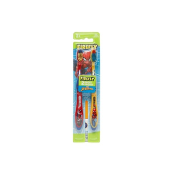 Firefly Spiderman Twin Pack Toothbrush
