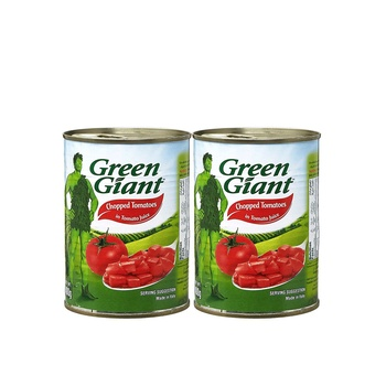 Green Giant Can Chopped Tomatoes 2X400g