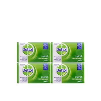 Dettol original anti-bacterial bar soap 4x120g