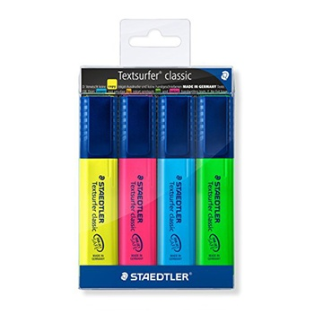 Staedtler Highlighter - 4 pc pack.