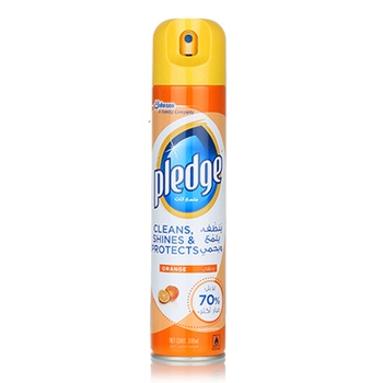 Pledge Orange Spray Furniture Cleaner, 300 ml