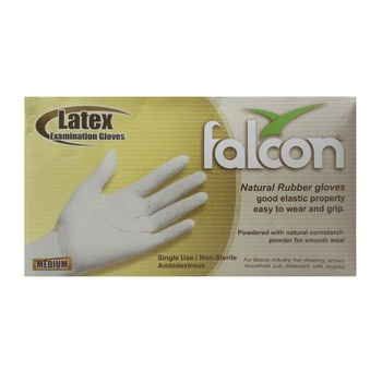 Falcon Latex Gloves Medium 1 X100S