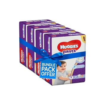 Huggies Active Baby Pants Diapers, Size 5, 12-17kg Mega Pack (Pack Of 136 Diapers)